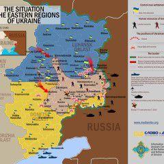 Map of Anti-terrorist Operation – 21.07.2014