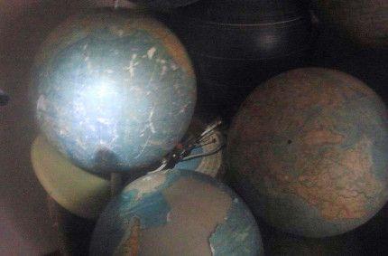 Mined school globes
