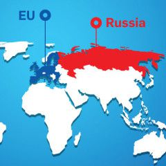 EU sanctions against Russia. Infographic
