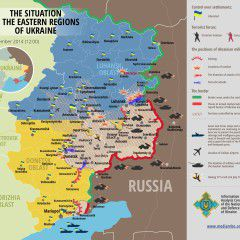 Map of Russian invasion – 3.09.2014