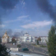 """Pro-Russian separatists and the Russian troops attacked the airport in Donetsk by """"Grad"""" and artillery"""