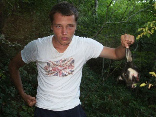Russian neo-Nazi killing dog2