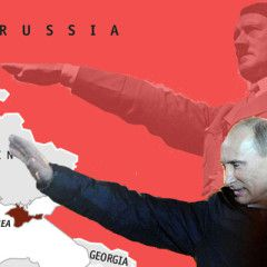 Hitler and Putin. The Rise of Evil. Infographic