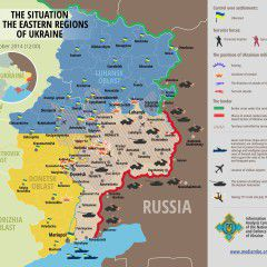 Map of Russian invasion – 01.10.2014
