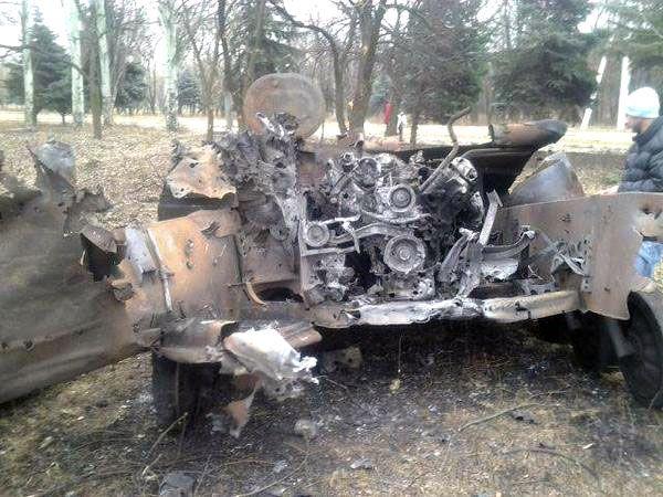 Destroyed 2S1 Gvozdyka 1