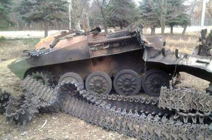 Destroyed the separatists' self-propelled artillery 2S1 Gvozdyka (gallery)
