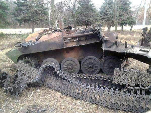 Destroyed 2S1 Gvozdyka 2