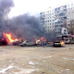 Video with the moment of shelling Mariupol by Russian terrorists