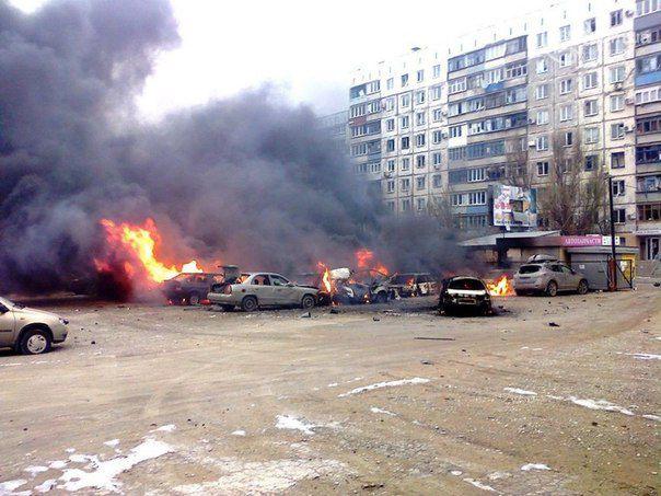 Mariupol shelled by terrorists