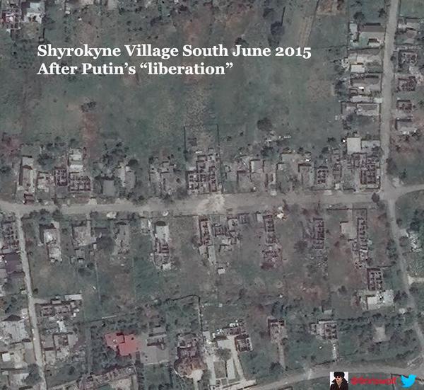 Shyrokyne, after Kremlin ir uaposition