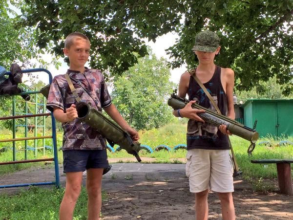 children - war in Donbas