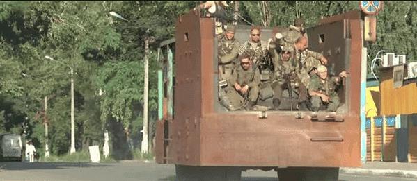 militants trash car ir uaposition 2