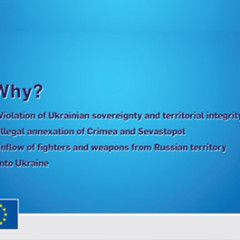 EU sanctions against Russia – explanation by Europian Union. Infographics and video