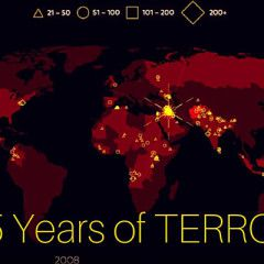 15 years of terror. A time-lapse map of all big terrorist attacks in 2000-2015 (Video)