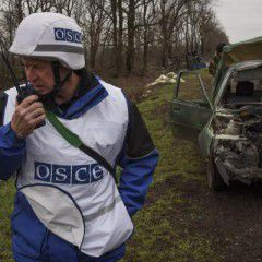 OSCE spots at least 10 Grads, howitzers and tanks near occupied Luhansk