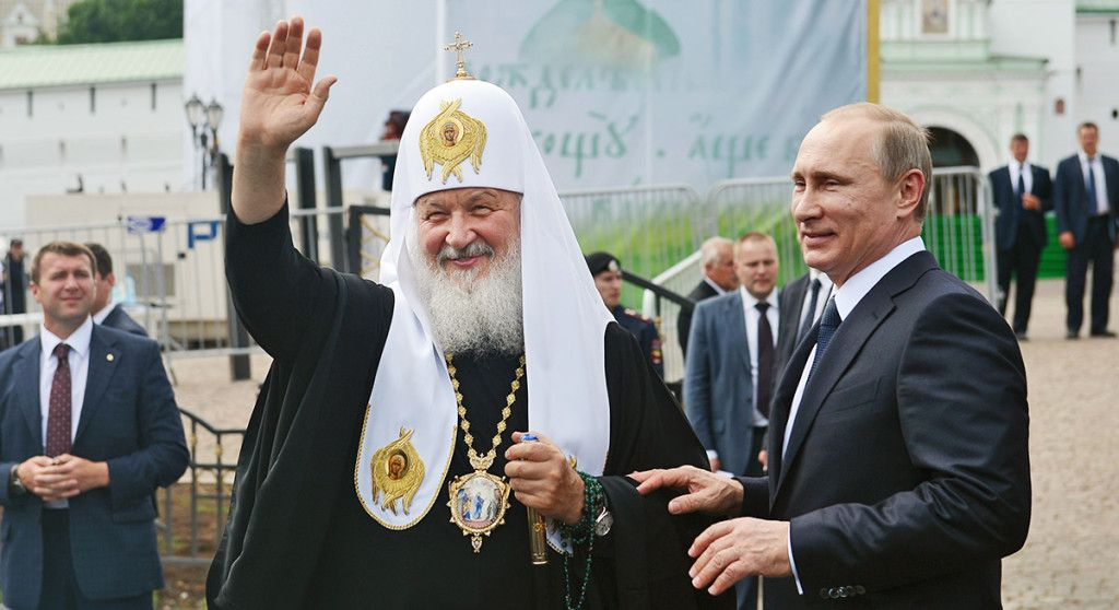 Vladimir Putin and Patriarch of the Russian Orthodox Church Kirill
