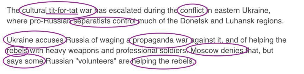 Russia propaganda myths about Ukraine seep into media language text2