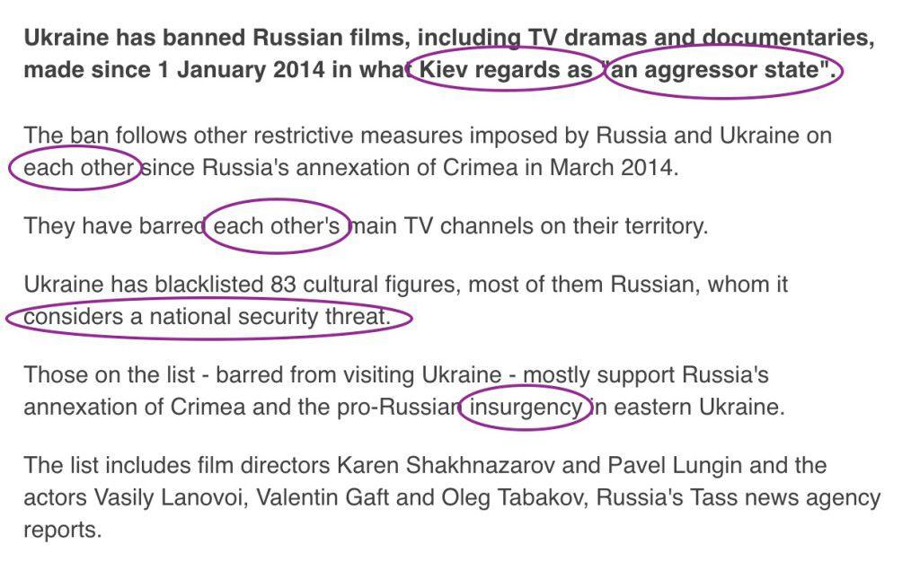 Russia propaganda myths about Ukraine seep into media language text3