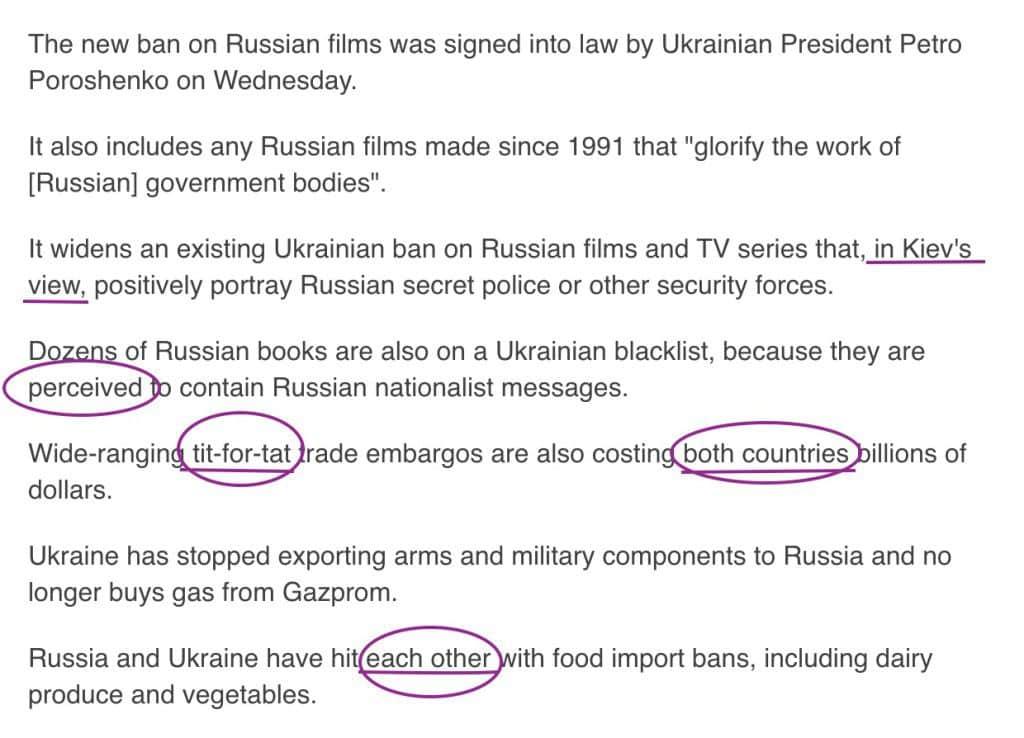 Russia propaganda myths about Ukraine seep into media language text5