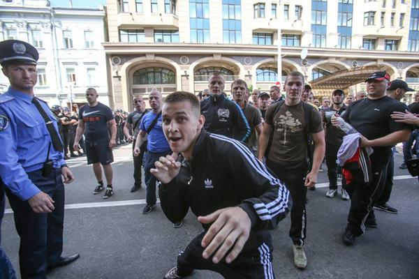 Vadym Titushko, a mixed martial artist, attacked journalists of the 5th Channel on May 18, 2013. the police, controled by Yanukovych`s Party of Regions did not prevent attackers.