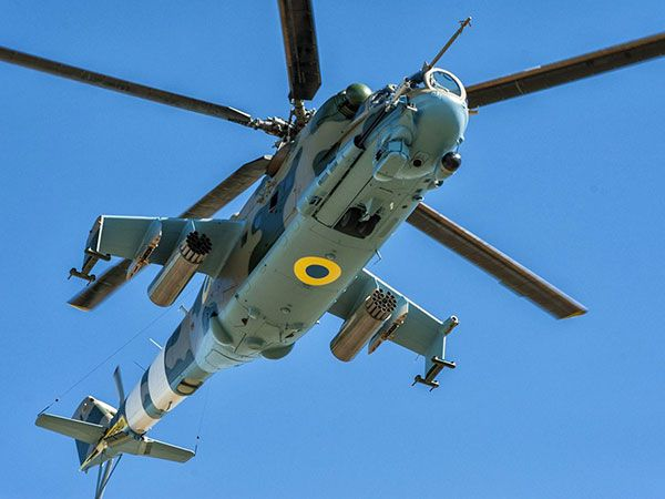 Mi-24PU1 helicopter uaposition