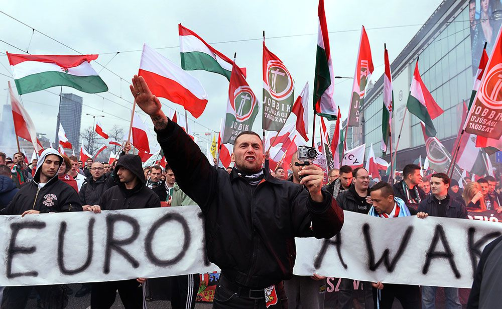Right-march in Poland on Independence Day - photo