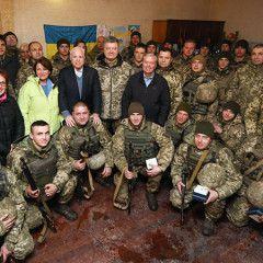 U.S. Senators John McCain, Lindsey Graham and Amy Klobuchar visited command post near Shyrokine in Donbas