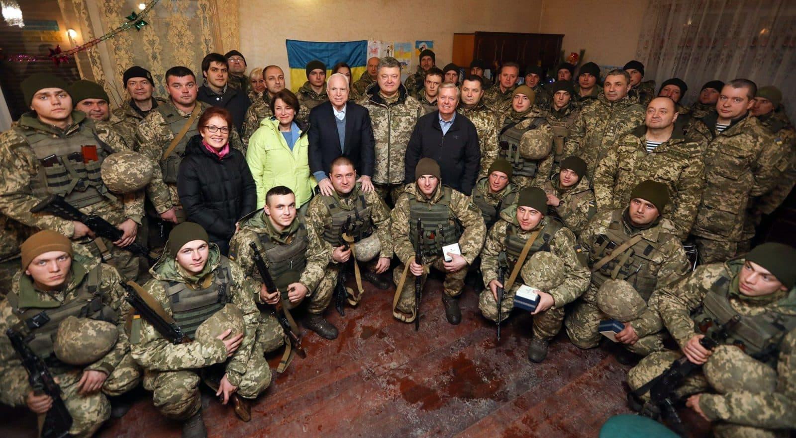 John McCain, Lindsey Graham and Amy Klobuchar in Donbas