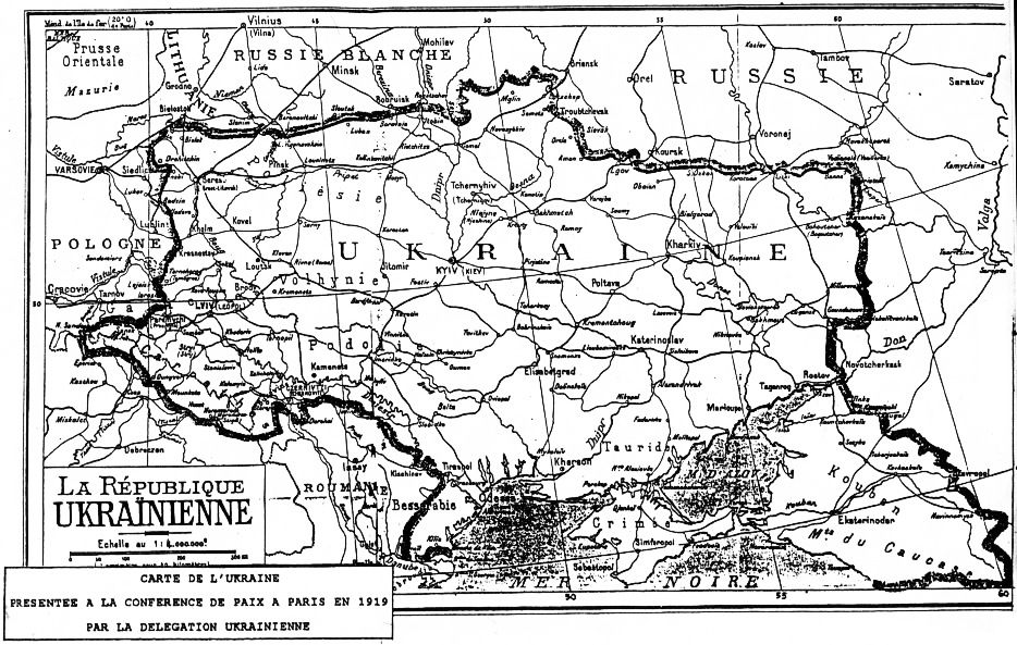 Map of Ukraine 1919 (France)