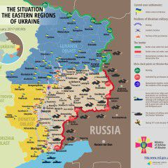 Russian militants attacked Ukrainian troops' positions 55 times in all sectors in Donbas in the past 24 hours