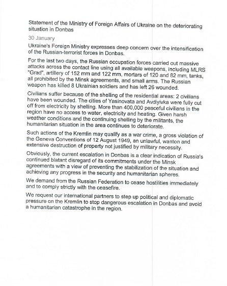 UN letter Avdiivka Avdiyivka uaposition
