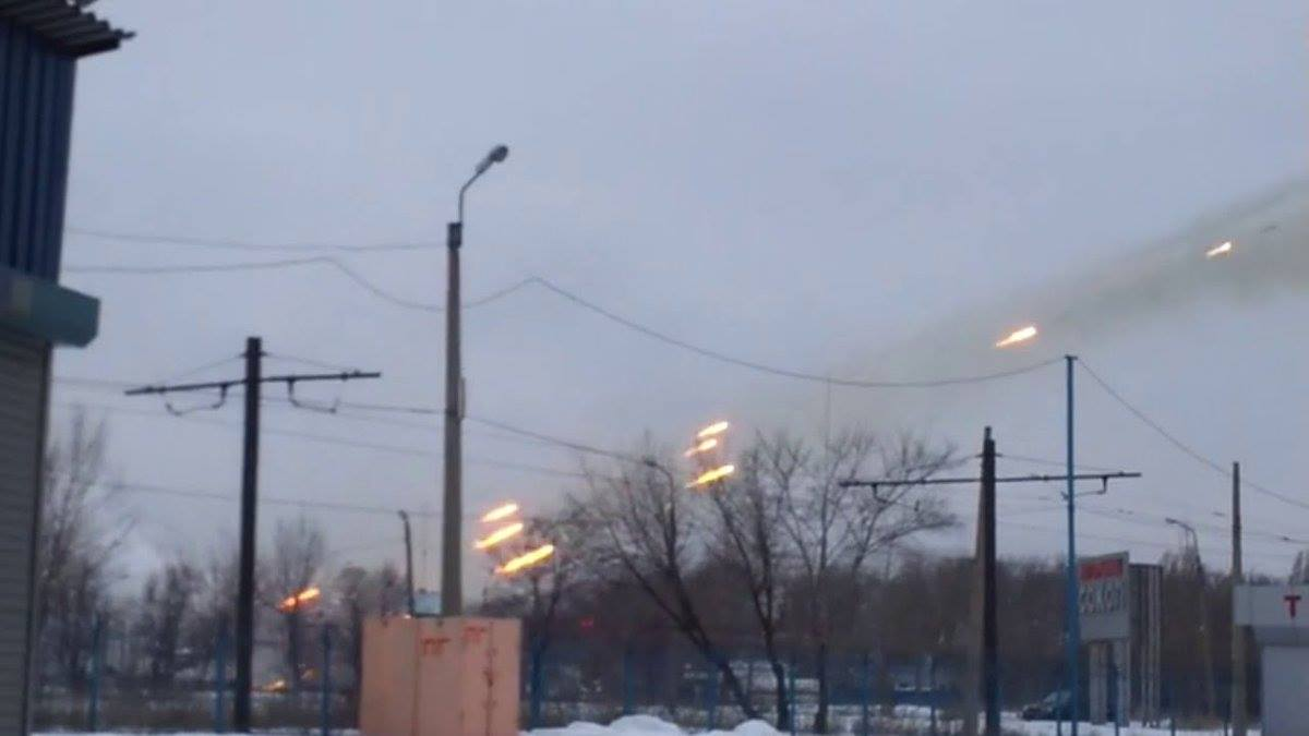 Shelling Avdiivka from Donetsk by Russian troops