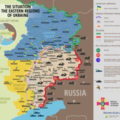 Russian troops attacked Ukrainian positions in Donbas 82 times in last day, most of attacks were with the use of heavy weapons