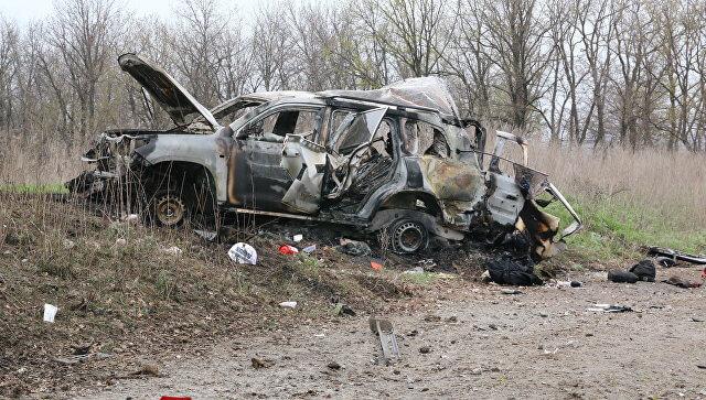 OSCE exploded car original photo
