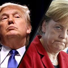 Trump and Merkel discussed by phone a peaceful solution of Donbas crisis